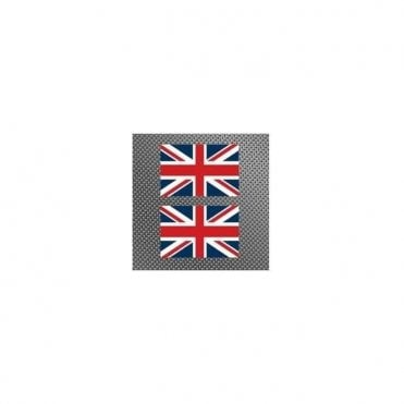 TWO Union Jack Stickers 6.5 x 4.5 cm