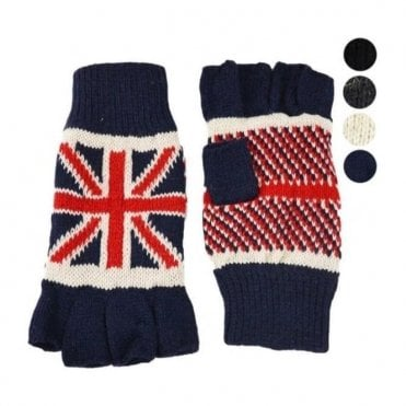 Union Jack Fingerless Thermal Gloves
