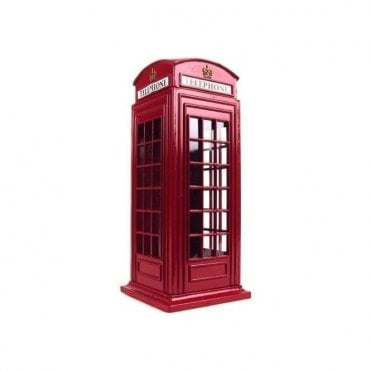 Large Red Telephone Box Money Bank