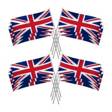 Large Union Jack Hand Flags