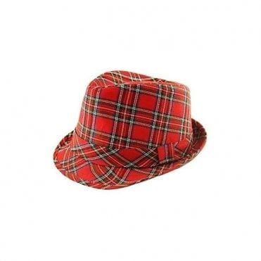 Scottish Tartan Trilby Hat