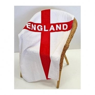St Georges Flag ENGLAND Beach Towel Velour
