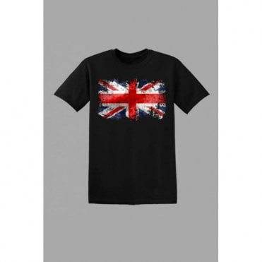 Union Jack Kids Abstract T-Shirt Black