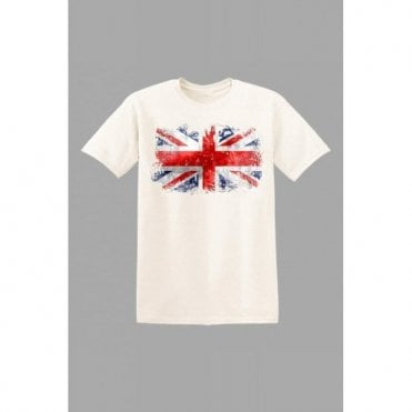 Union Jack Kids Abstract T-Shirt in White