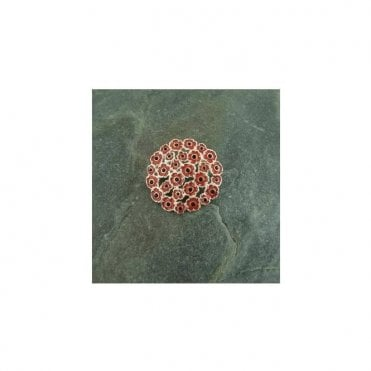 Multi Poppy Brooch Silver finish