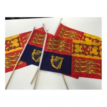 Four Royal Standard Hand Flags - Royal Wedding