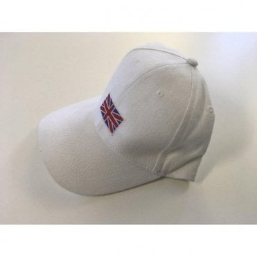 Union Jack Flag Baseball Cap in White