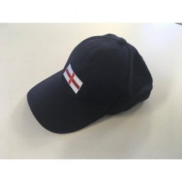 England Baseball Cap - Navy Blue - St Georges Flag