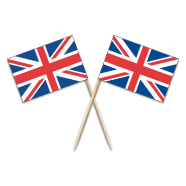 Union Jack Flag Party picks - pack of 100 United Kingdom