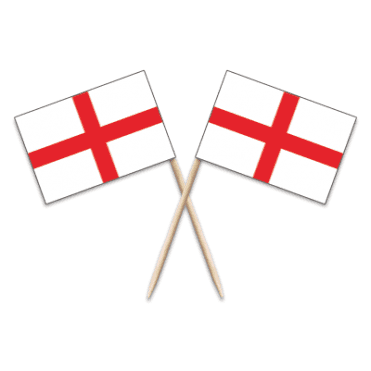 England St George Flag Party picks - pack of 100