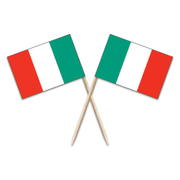 Italy Flag Party picks - pack of 100