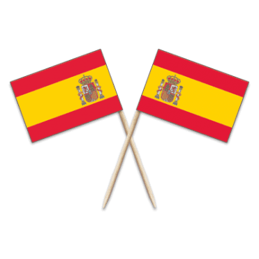 Spain Flag Party picks - pack of 100