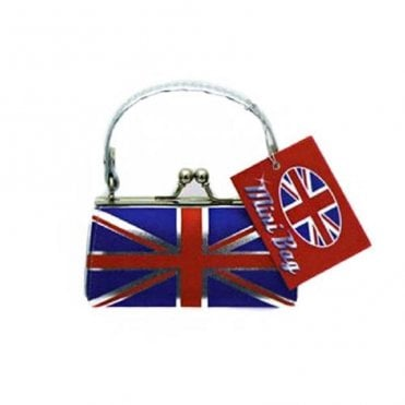 Mini Leather Look Union Jack Handbag