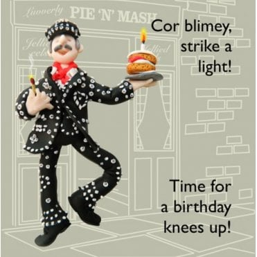 Pearly King Birthday Card