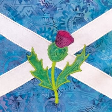 Saltire & Thistle - Scotland - Birthday Card