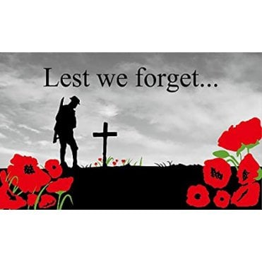 Lest We Forget Flag 5' x 3'