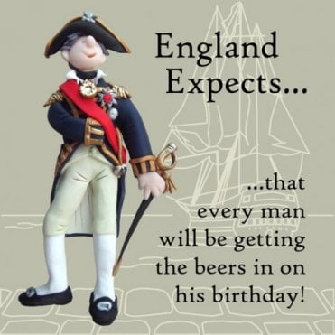 Nelson - England Expects Birthday Card