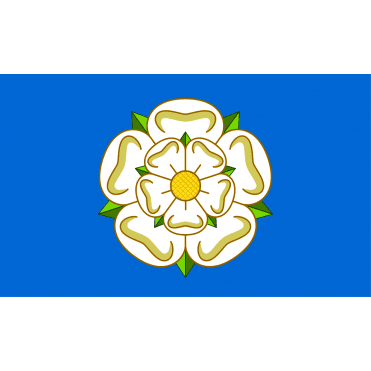 Yorkshire White Rose - Blue Hand Flag 2ft