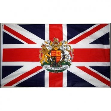 Union Jack Crest Hand Flag - 2ft pole