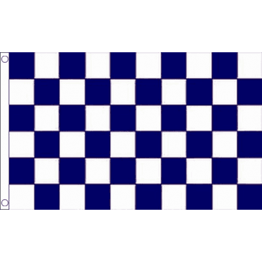 Blue & White Checkered Flag 5' x 3'