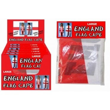 England Flag Body Cape - Adult Size - St George Cross with ENGLAND on