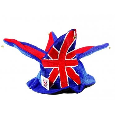 Union Jack Jester Hat - 4 points With Bells