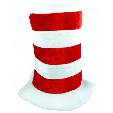 Tall Red & White stripe hat - England -Football or Rugby ?