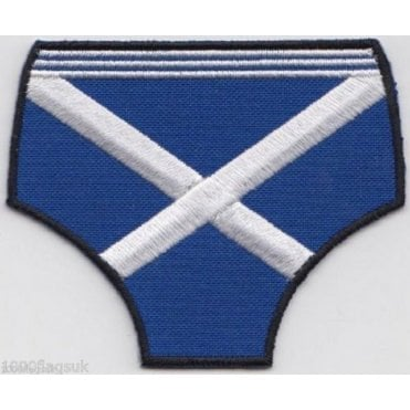 Scotland Flag Pants Embroidered Patch - Easy Iron On
