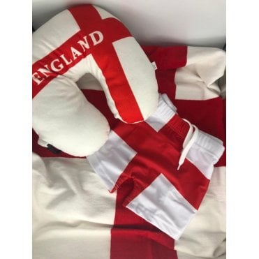 Summer Holiday Pack - ENGLAND - Swimming Trunks, Towel, Neck cushion - kit