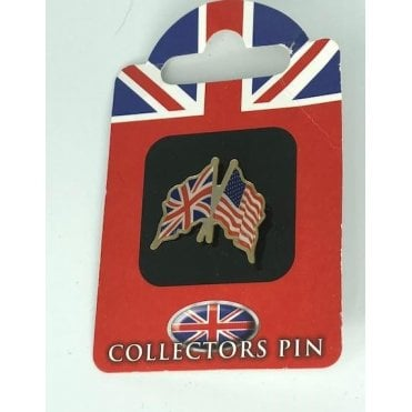 Union Jack / USA America Friendship Badge