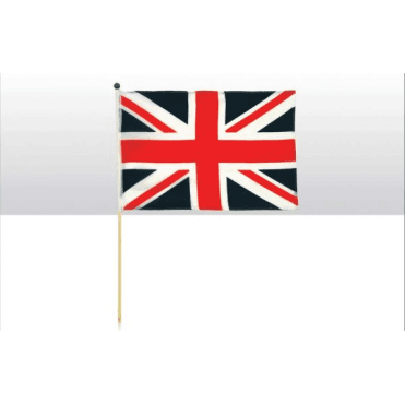 Union Jack Hand Flag on 2ft pole