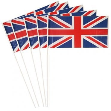 Union Jack Hand Flag - Pack of 25