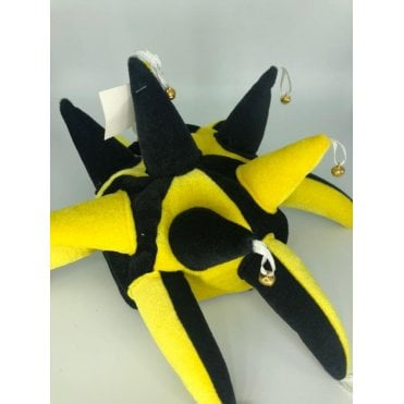 Black & Yellow Jesters Hat with bells