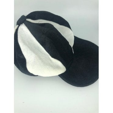 Black & White Baker Boy Hat