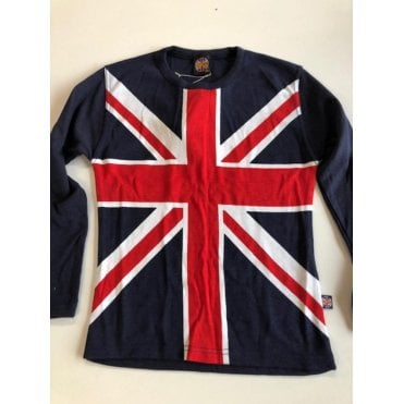 Union Jack Ladies long plain sleeve T shirt size 32""