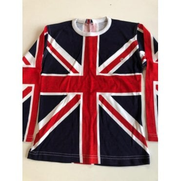 Union Jack Ladies long sleeve all over print T shirt size 32""