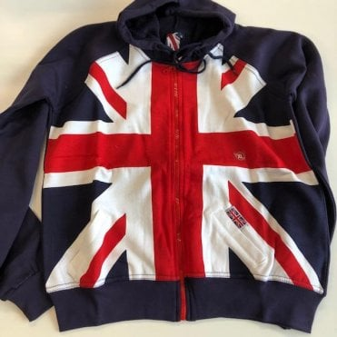 Union Jack Zipped Varsity Baseball style Hoodie Jacket
