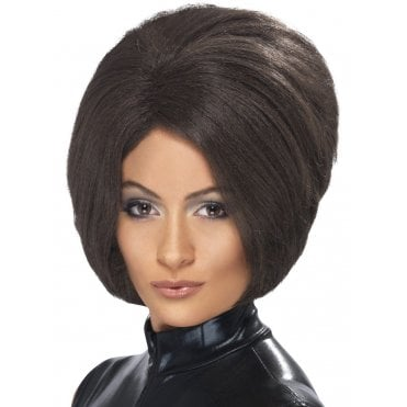 1990s POSH SPICE LADIES SPICE GIRL FANCY DRESS WIG BROWN BOB WIG