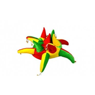 Red Green & Yellow Jester hat with bells