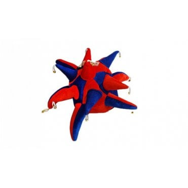 Red and Blue Jester hat with bells