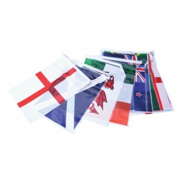 Rugby Nations World Cup Bunting 7m with Country Flags