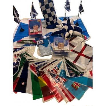 Rugby World Cup 2019 SCOTLAND Party Kit 2019 Bunting, Hats, Wigs