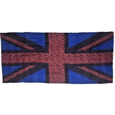 Union Jack Poppy Flag Scarf