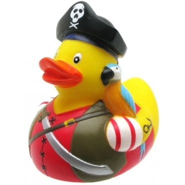 Bath Rubber Duck - Pirate with Parrot
