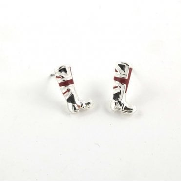 Union Jack Stud Earrings - Boots