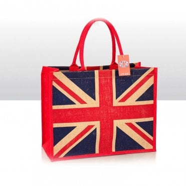 Union Jack Jute Shopping Bag