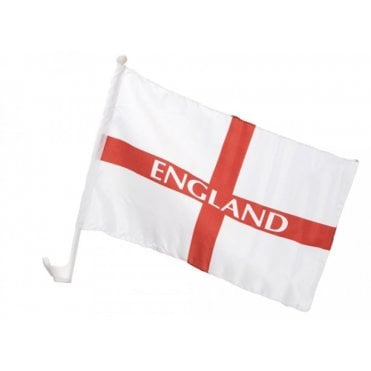 "St George ENGLAND Car Flag. 17"" x 11"" Football / Rugby etc"