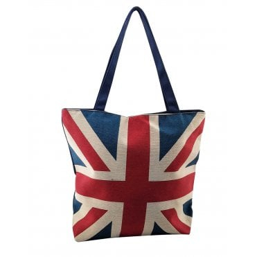 Union Jack Shopping Bag with Zip