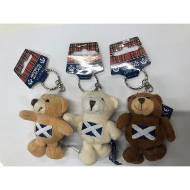 Scotland Flag Teddy Bear Keyring