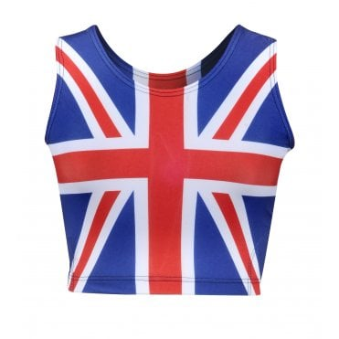 Union Jack Ladies Sports Crop Top